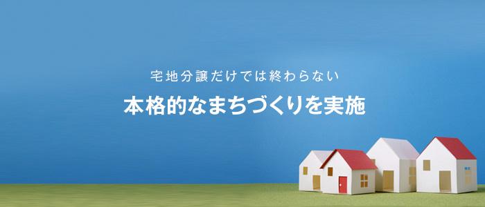 ハウスメーカーと提携して、宅地分譲だけでは終わらない本格的なまちづくりを実施