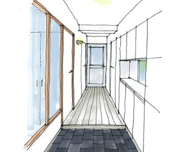 03_玄関_開放感と豊富な収納が自慢の玄関です。